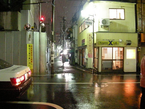 back street at night
