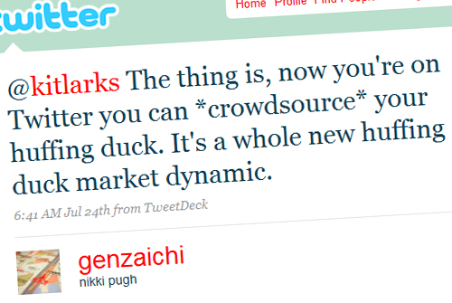 huffing duck market dynamic