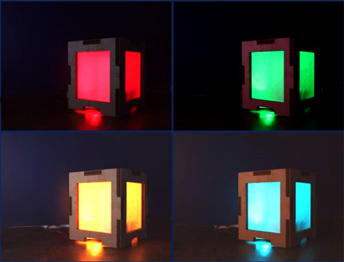 Colour-changing light box