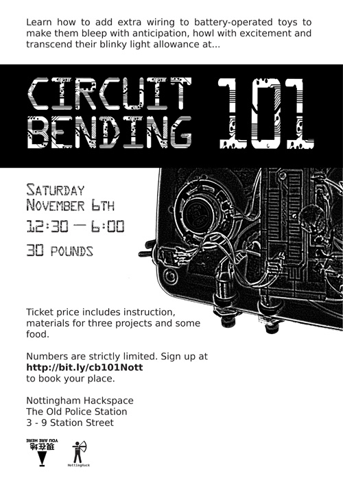 Circuit Bending 101 at Nottingham Hackspace