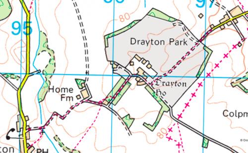 Drayton map