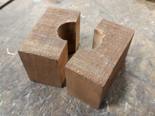 Tube block halves
